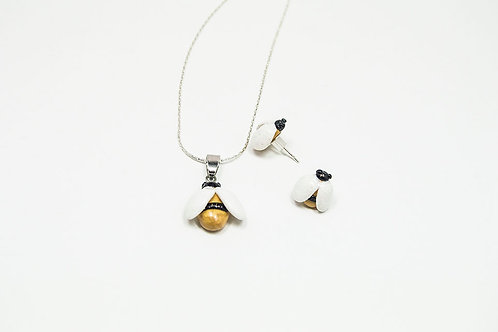 Bee Stud Earrings and Necklace