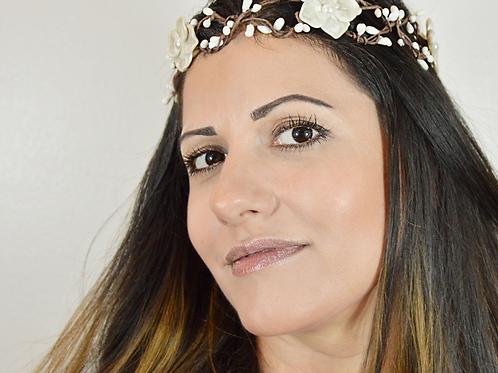 White Flower Wedding Crown