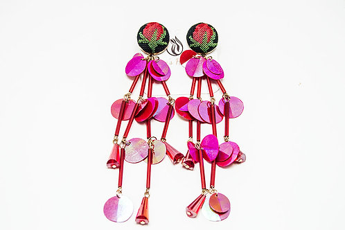 Rose Fringe Earrings