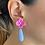 Thumbnail: Long Stone Stud Earrings