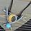 Thumbnail: Half Moon Bib Leather Necklace