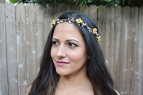 Sunflower Girl Crown