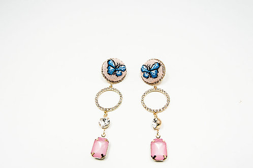 Butterfly Drop Earrings Gold