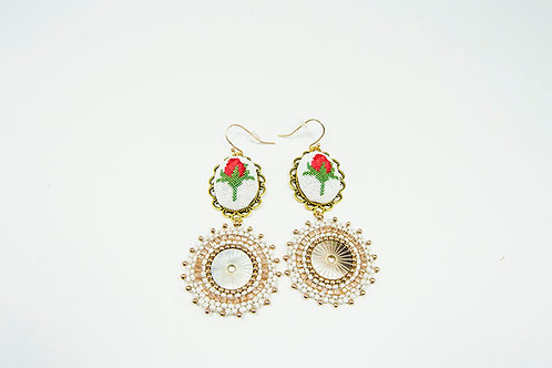 Big Round Crochet Earrings