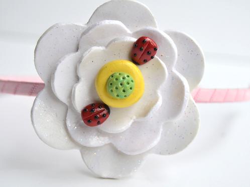 Ladybug Flower Headband