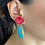 Thumbnail: Red Flower Stone Earrings