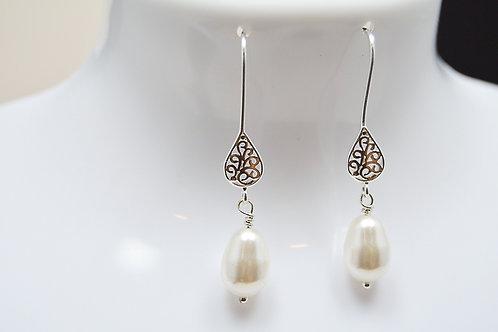 Crystal Pearl Bridesmaid Earrings