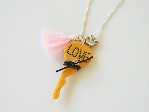 Key Stamped Necklace