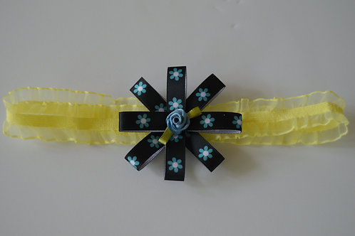 CUTE BLUE FLOWER HEADBAND