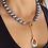 Thumbnail: Dark Grey Pearl Pendant Necklace