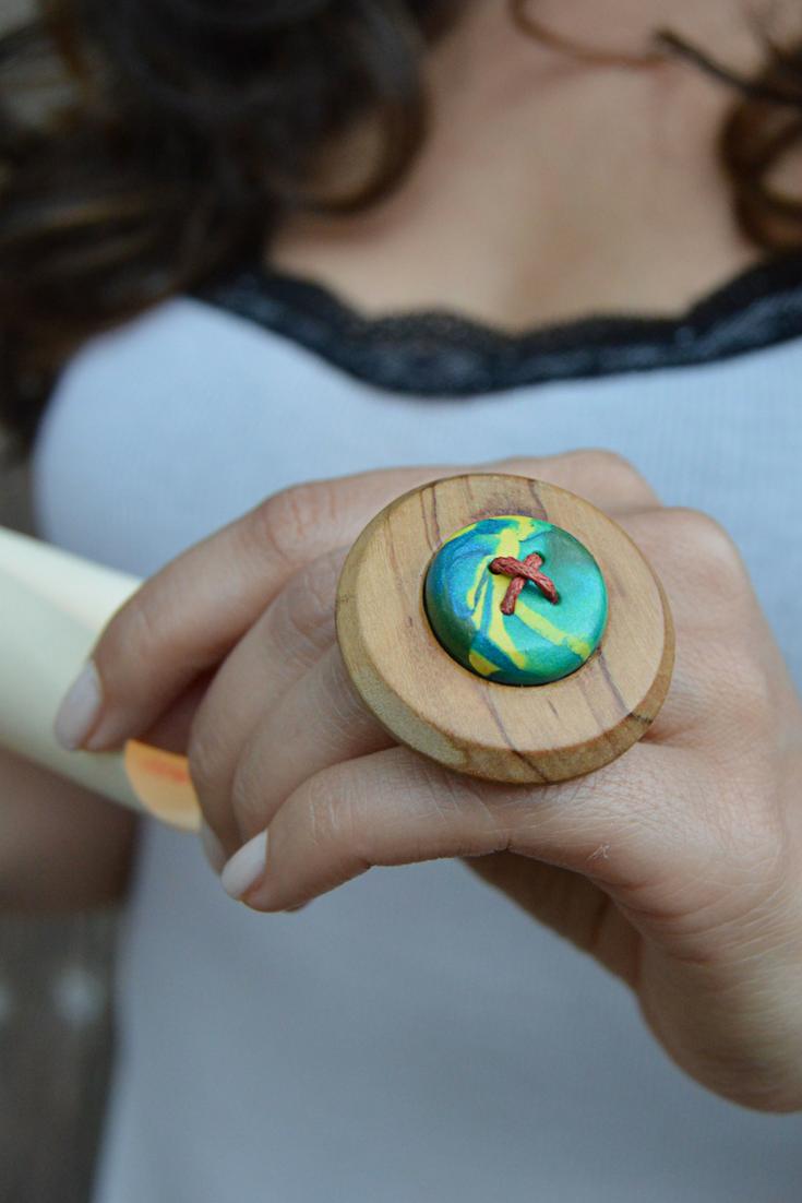 Wood Adjustable Ring