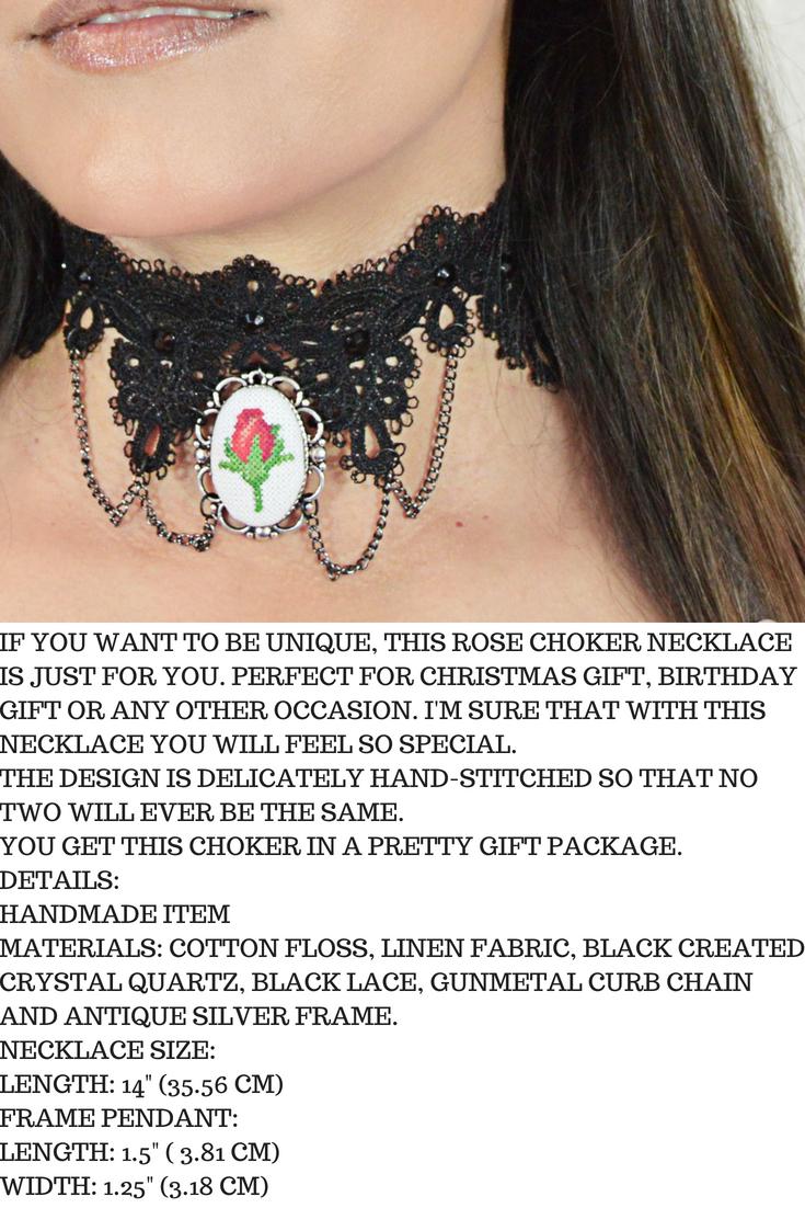Rose Lace Choker