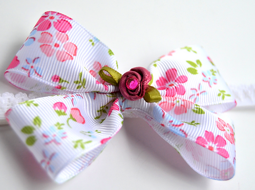 Pink Rose Girl Headband