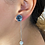 Thumbnail: Ball Long Rose Stud Earrings