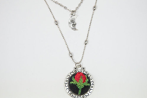 Vintage Moon Layered Necklace