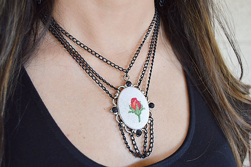 Vintage Rose Layered Necklace