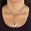 Thumbnail: Rose Pendant Choker Necklace