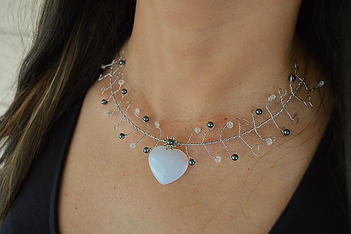 Moonstone Heart Necklace