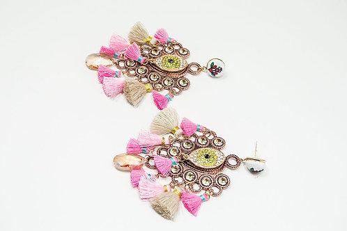Colorful Crystal Eyes Earrings