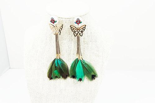 Butterfly Feather Earrings
