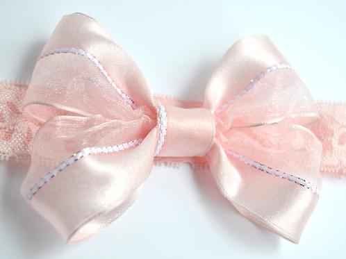 Pink Baby Bow Headband