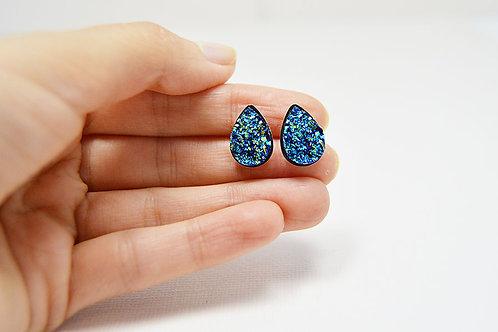 Druzy Stone Stud Earrings