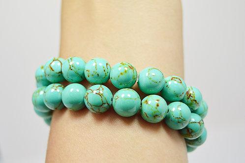 Green Turquoise Gemstone Bracelet