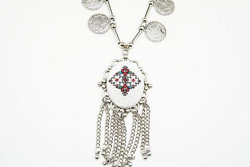 Long Boho Layered Necklace