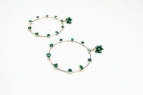 Big Green Hoop Earrings