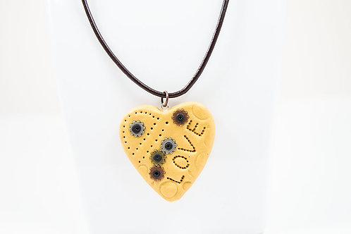 Steampunk Heart Leather Necklace