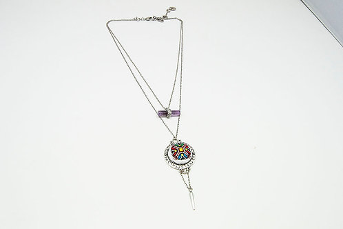 Unusual Amethyst Crystal Necklace