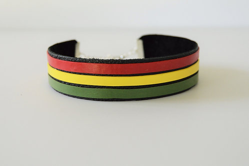 Colorful Leather Choker