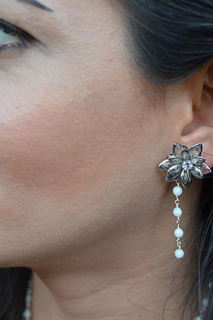 Crysal Flower Earrings