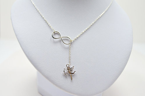 Angel Infinity Silver Necklace