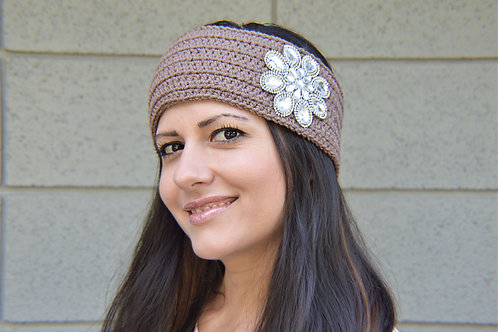 Crystal Crochet Woman Headband