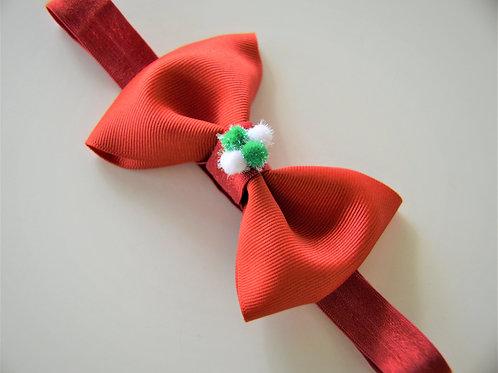 Red Christmas Bow Headband