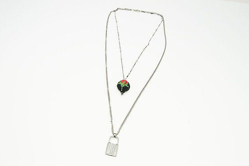 Lock and Key Lariat Chain Necklace
