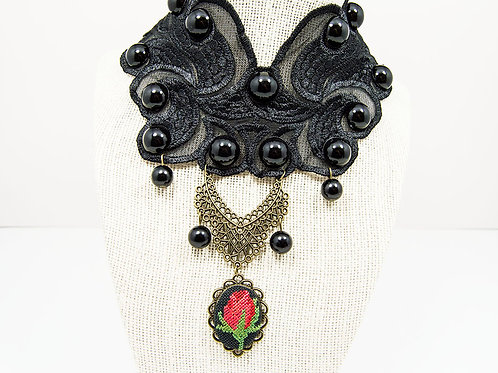 Collar Black Lace Choker