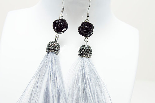 Genuine Ostrich Feather Earrings