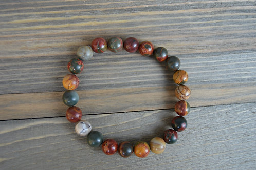 Natural Red Greek Stone Bracelet