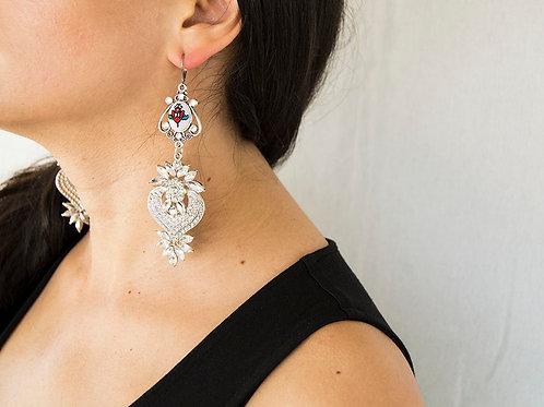Rhinestone Earrings for Wedding