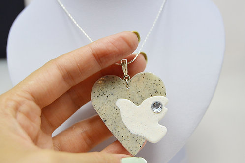 Bird Heart Necklace