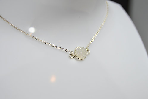 Dainty Stone Silver Necklace
