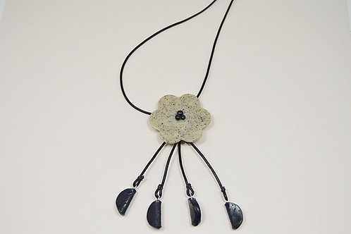Flower Leather Layered Necklace