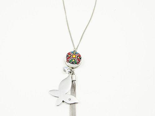 Long Butterfly Tassel Necklace