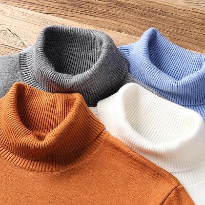 Men's Warm Turtleneck Sweater Casual Comfortable Pullover