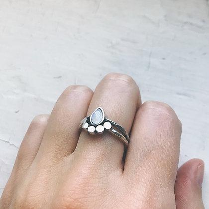 Moondrop Moonstone Ring