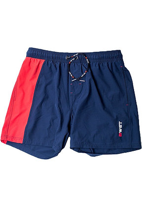 "Men's Beach Shorts ""Lalu"" by Bwet Swimwear - Navy, Blue"