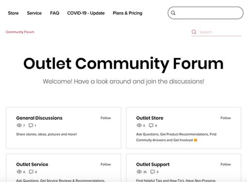 Outlet Community Forum