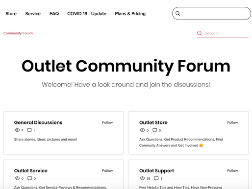 Outlet Community Forum